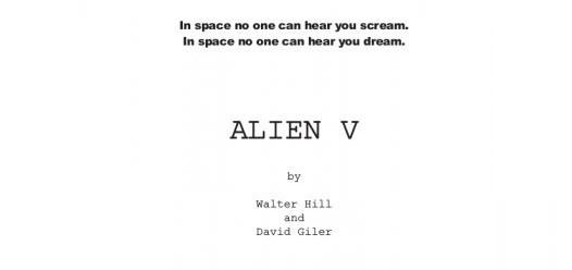 Walter Hill conferma l'esistenza del trattamento per il suo Alien 5 (con David Giler). Nuovi dettagli sul progetto